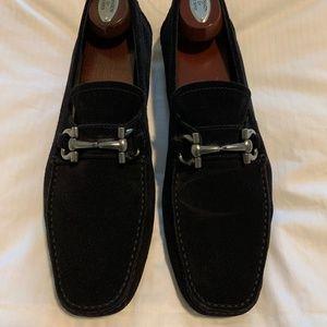 Salvatore Ferragamo black suede Parigi loafer